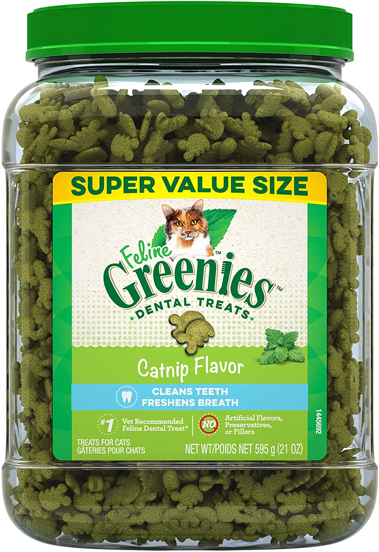 Greenies Feline Natural Dental Care Cat Treats, 21 oz. Tub - $24.99 - $25.99