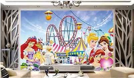 3D Schöne Disneyland 277 Fototapeten Wandbild Fototapete BildTapete Familie - $52.21+