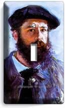 Claude Monet Self Portrait Painting 1 Gang Lightswitch Wall Plate Room Art Decor - $8.99