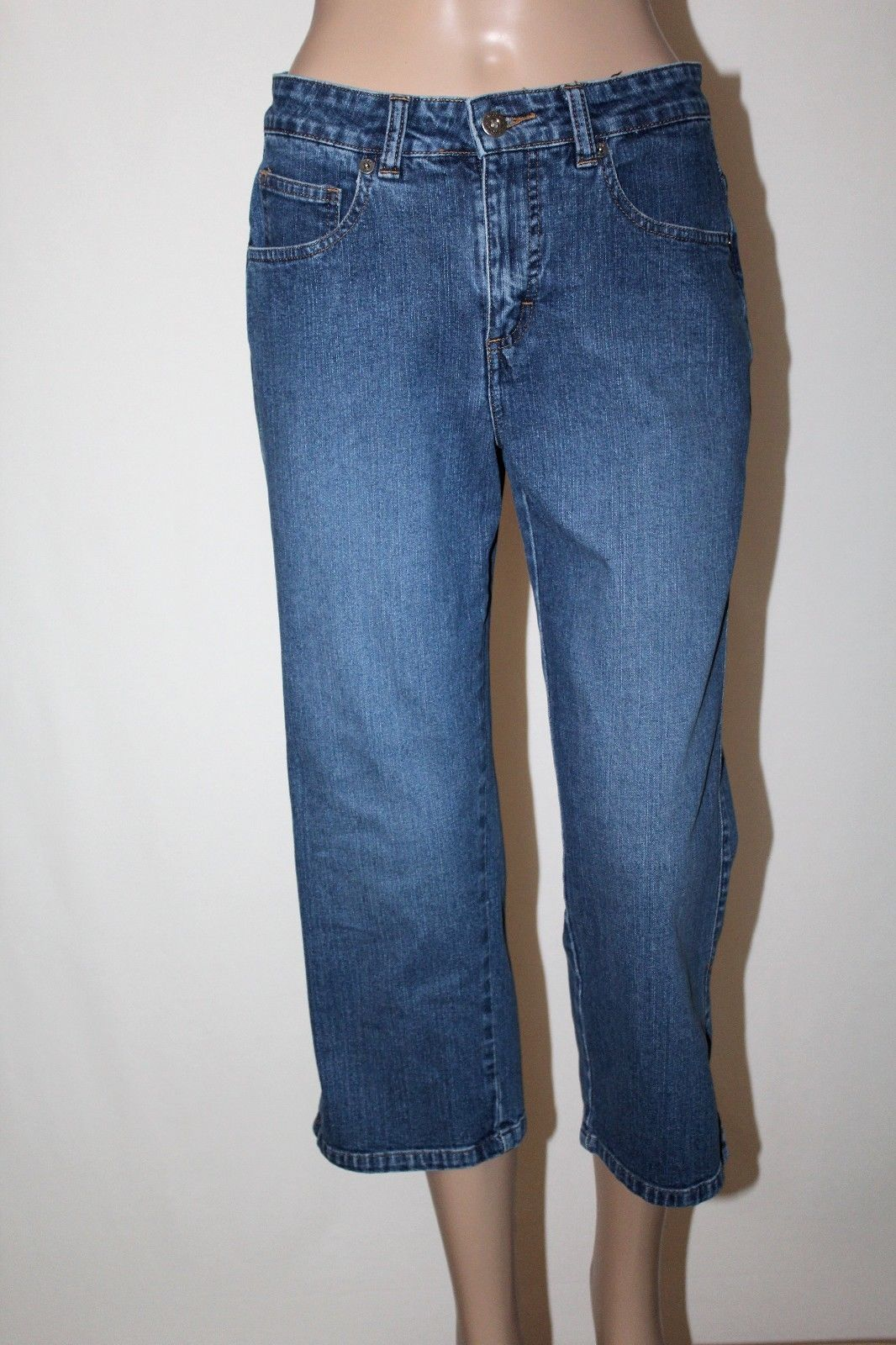657cd6435ef LEE RIVETED Ultimate 5 Women s Size 8 M Capri Cropped Stretch Jeans 22
