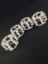 Napkin Ring Holders Clear Beads Gold Safety Pin... - $29.39