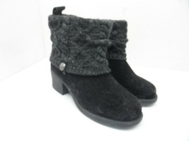 Muk Luks Women's Mid Pull-On Casual Comfort Boots Black Size 9M - $37.99