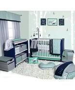 Bacati Noah Tribal 10 Piece Nursery-in-a-Bag Cotton Percale Crib Bedding... - $121.92