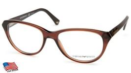 New Emporio Armani Ea 3024 5198 Brown Eyeglasses Frame 52-17-140mm B40mm - $33.31