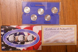 2000 Uncirculated State Quarter Philadelphia Mint Set. - $5.00