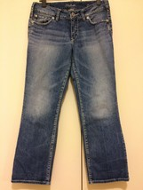 Capri Jeans SUKI Silver Ladies Size 29 Medium Wash Blue Denim Cropped - $28.05