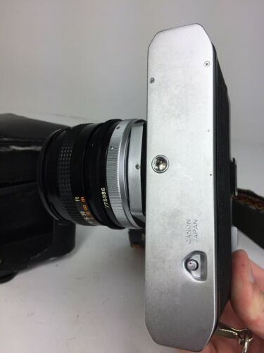 Canon TLB Camera with Carry Strap And Leather Case And Lense Fd 50mm 1:1.8