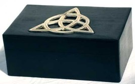 "New Age Smudges & Herbs Triquetra Wooden Box, 4""W x 6"" L - $19.12 CAD"