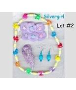 Little Girls Jewelry Necklace Earrings Hair Clips Lot #2 - €19,74 EUR