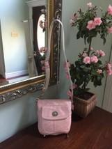 Coach Crossbody Bag Hamilton Turnlock Pink Leather B7 - $48.30