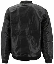 Men's Premium Water Resistant Zip Up Flight Black Bomber Jacket w/ Defect - 3XL image 2