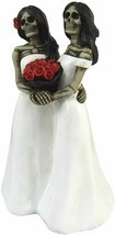 "Skeleton Brides Couple Figurines Collectibles Pride Gothic Home Decor 6"" - £9.14 GBP"