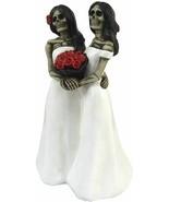 "Skeleton Brides Couple Figurines Collectibles Pride Gothic Home Decor 6"" - $12.58"