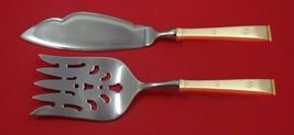 Golden Snowflake by Gorham Sterling Silver Fish Serving Set 2 Piece Custom HHWS - $127.40