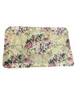 Croscill Pavillion Yellow Pink Green Floral King Pillow Sham Corded Edge... - $18.81