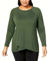 Calvin Klein Performance Tee Shirt Top Green Size 3X Plus Stretch $59 NE... - $36.62
