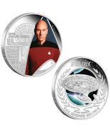 2015 Star Trek Jean-Luc Picard & Enterprise NCC-1701D 1oz .999 Silver 2 ... - $210.42