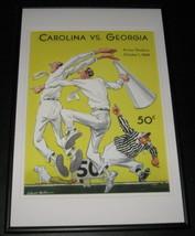 1949 North Carolina vs Georgia UGA Football Framed 10x14 Poster Official... - $46.39