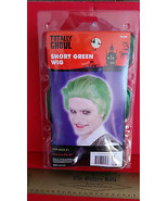 Fashion Holiday Head Accessory OSFM Short Green Wig Halloween Costume Pr... - $6.64