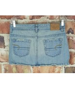 American Eagle Denim Skirt Womens Size 6 Mini Distressed Light Wash  - $13.86