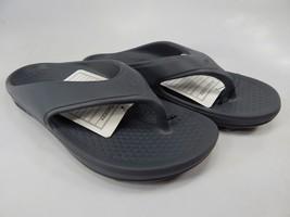 Spenco Fusion 2 Sz 8 M (B) EU 39 Women's Lightweight Flip Flop Sandals Dark Gray