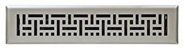 "Accord Ventilation AMFRSNB214 Floor Register, 2"" x 14"", Satin Nickel - $20.67"