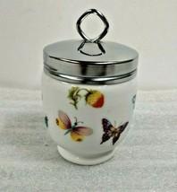 Vintage Royal Worcester Butterfly Garden Egg Coddler - $24.95