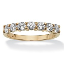 PalmBeach Jewelry .70 TCW Round Cubic Zirconia 10k Yellow Gold Stack Ring - $123.24
