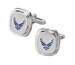 CUFF LINKS STERLING SILVER US AIR FORCE NEW LOGO  - $139.04