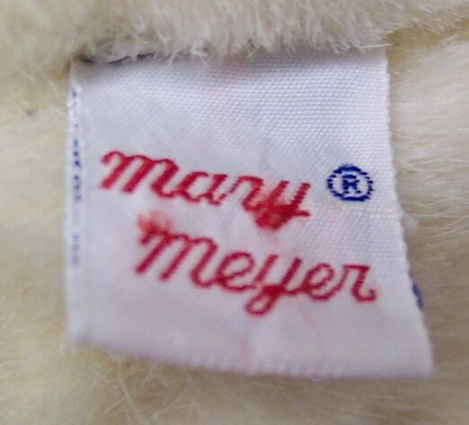 VINTAGE Mary Meyer CREAM & PINK FULLY JOINTED TEDDY BEAR Plush Stuffed Animal