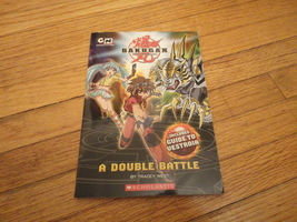 BOOK Tracey West 'Bakugan: A Double Battle' Scholastic PB kids Cartoon N... - $1.99