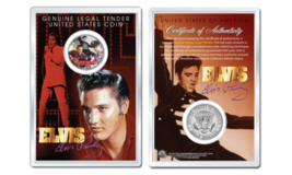 ELVIS PRESLEY - The King OFFICIAL JFK Half Dollar U.S. Coin in PREMIUM H... - $10.35