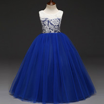 Royal Blue  Short Flower Girl Dress A Line Pageant Party Gowns Formal Go... - $33.20