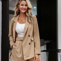 Elegant two-pieces women short suit blazer sets