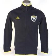 Adidas MLS Columbus Crew Black Zip Front Track Jacket Mens NWT - $67.49