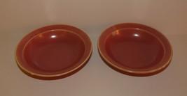 Hlc Homer Laughlin Wells Art Glaze Rose Two Fruit Bowls - $17.10