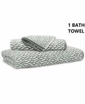 Ralph Lauren Sanders 1 BATH TOWEL Basket Weave Pewter Gray 100% Cotton 30x56 NIP - $29.69