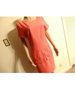 Women M L 10 12 14 Dress Knee Sleev Career Church Formal Weddin Orang So... - $24.01