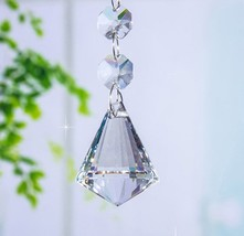 5pcs Crystal Chandelier Lamp Lighting Part Drops Pendants Balls Prisms Hanging - $7.25