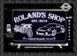 Personalized Motorcycle, Race Car LED Sign, Man Cave, Garage Sign, Gift ... - $138.60