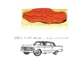 Collector Car Rubber Stamps 1962 Ford Mercury Comet/Ford Falcon Rubber Stamp