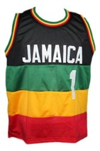 Fly Rasta Team Jamaica Basketball Jersey New Sewn Any Size image 1