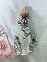 Blonde Hair Barbie with Silver Gown and Extra clothing Lot - $21.35