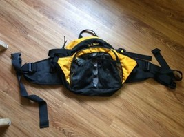 Ll Bean Waist Pack Bum pack Large Phanny Pack Yellow Biking Hiking Yellow - $26.60