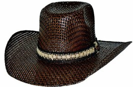 Bullhide PBR Hero & Legend 50X Weatherford Straw Cowboy Hat Sweatband Brown - $68.00
