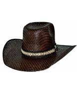 Bullhide PBR Hero & Legend 50X Weatherford Straw Cowboy Hat Sweatband Brown - $67.00