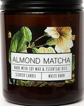 Bath and Body Works Almond Matcha Medium Single Wick Candle  7 oz. Amber... - $16.92