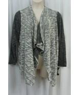 Style & Co Cardigan Sz 2X Deep Black Multi Knit Long Sleeve Casual Sweat... - €26,64 EUR
