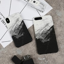 Black & White Water Paste Frosted iPhone Case - $22.09