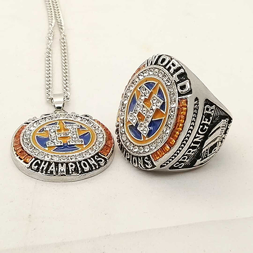 2017 Houston Astros World Series baseball Championship Ring necklace Set gift